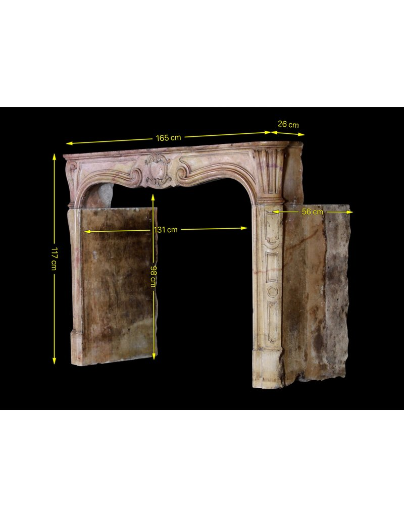 Created By Nature Hard Stone 18Th Century Period Vintage Fireplace Surround