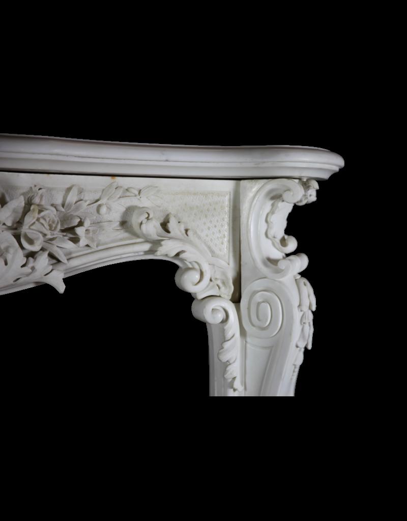 Weiß Statuarisch Marmor Belle Epoque Antike Kamin Maske