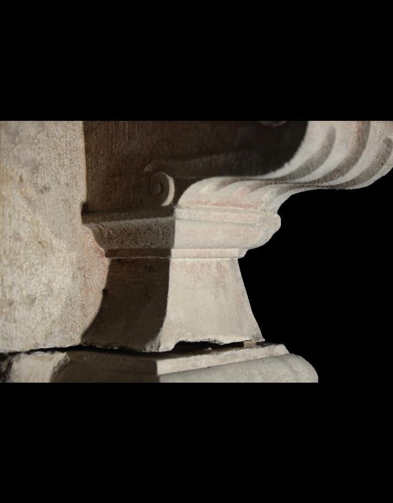 Riesen Festung Antike Kamin Maske In Hartem Kalkstein