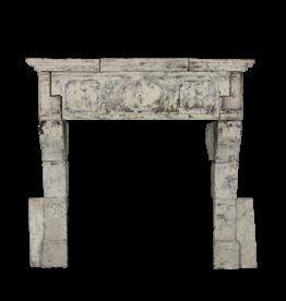 The Antique Fireplace Bank Französisch 17. Jahrhundert Periode Französisch Landstil-Art Kalkstein Kamin Maske