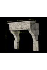 Französisch 17. Jahrhundert Periode Französisch Landstil-Art-Kalkstein Kamin Verkleidung
