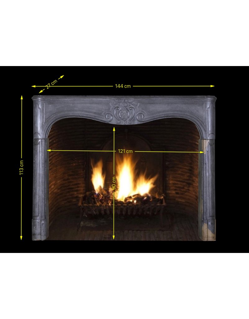 The Antique Fireplace Bank 17Th Century Delicate French Chique Vintage Fireplace Surround