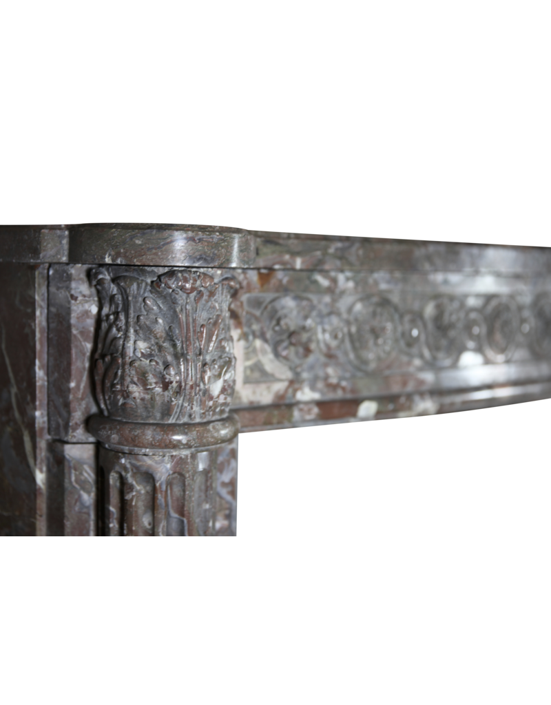 18Th Century Chique French Marble Fireplace Surround