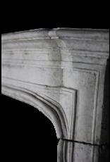 Französisch Stil Des 18. Jahrhunderts Kalkstein Antike Kamin Maske