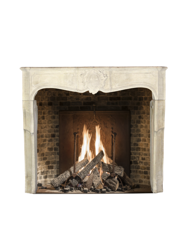 The Antique Fireplace Bank 17Th Century Delicate French Country Limestone Fireplace Surround