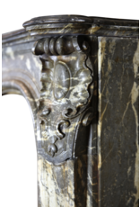 Breite Belgische Klassischer Kamin Maske Im Belgischen Grau Gris D'ardenne Marmor