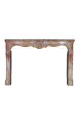 Regency Period French Chique Multi Color Antique Fireplace Surround