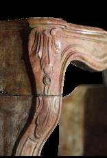 Regentschaft Periode Französisch Chique Multi Farbe Antike Kamin Maske