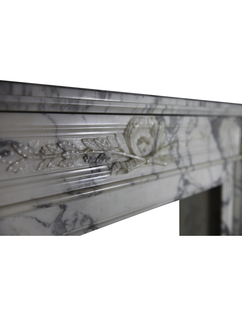 18Th Century Fine French Fireplace Surround In Marble
