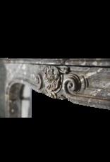18Th Century Classic Belgian Antique Fireplace Mantel