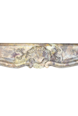 Königliche Saracolin Marmor Kamin Maske