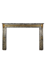18Th Century Chique French Antique Fireplace Surround In Grey St-Anna Marble