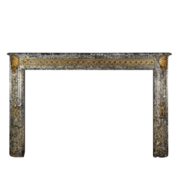 18Th Century Chique French Fireplace Surround In Grey St-Anna Marble