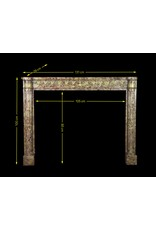 Elegant French Chique Brêche Marble Vintage Fireplace Surround