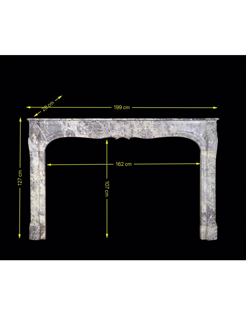 Grand 18Th Century Belgian Antique Fireplace Surround