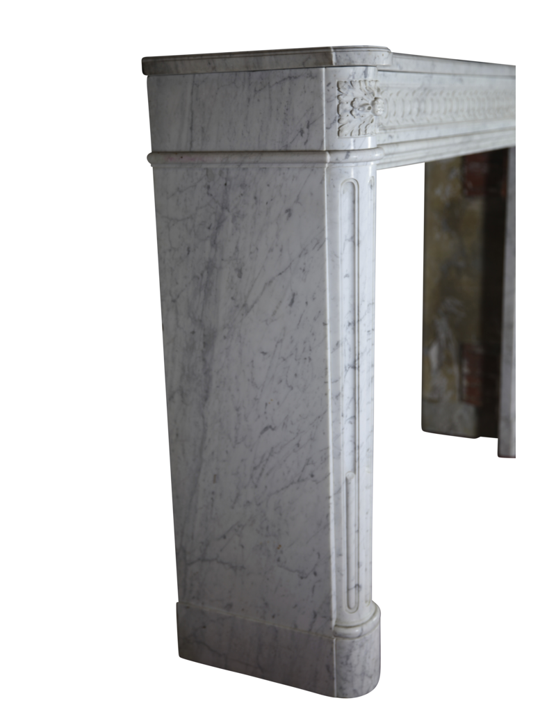 French Chique Louis XVI Period Vintage Fireplace Surround