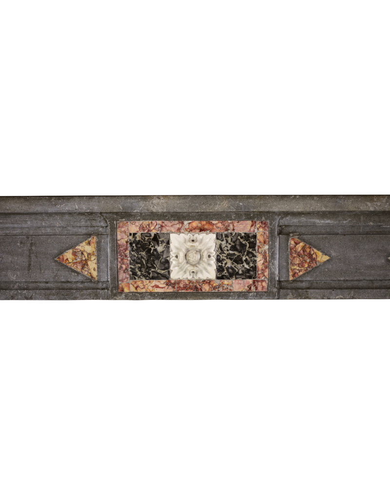 18. Jahrhundert Feine Antike Marmor Stein Kamin Maske