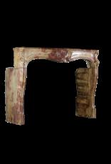 18. Jahrhundert Chique Multi Color Erstellt Von Natur, Stein, Antike Kamin Maske