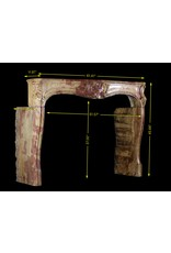 18Th Century Chique Multi Color Created By Nature Stone Antique Fireplace Surround
