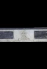 The Antique Fireplace Bank Feine Klassische Kamin Maske In Bleu Turquin Marmor Mit Medaillons