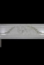 Pariserer Monumental Jahrgang Kamin Maske Aus Carrara-Marmor