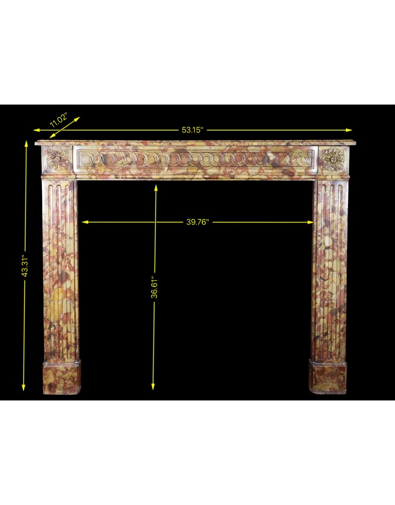 Small 18Th Century Chique French Vintage Fireplace Surround