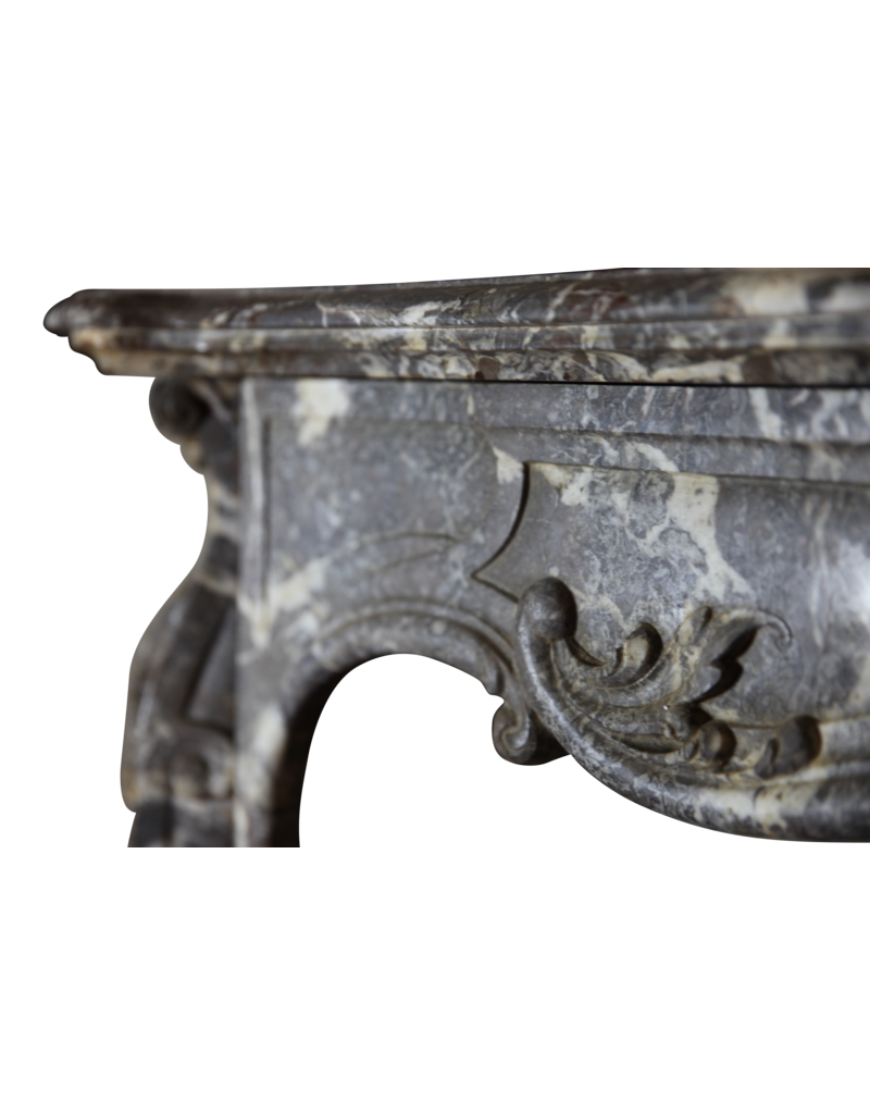 19Th Century Period Belgian Marble Vintage Fireplace Surround