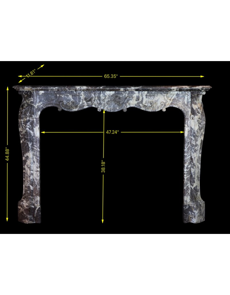 The Antique Fireplace Bank 19Th Century Period Belgian Marble Vintage Fireplace Surround