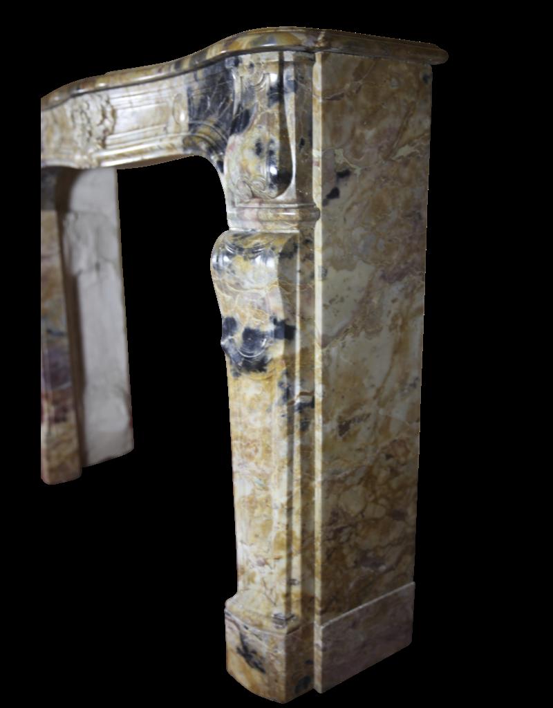 Chique Rich Antique Marble Fireplace Surround