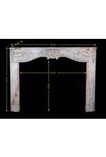 Vintage Saracolin Marble Fireplace Surround