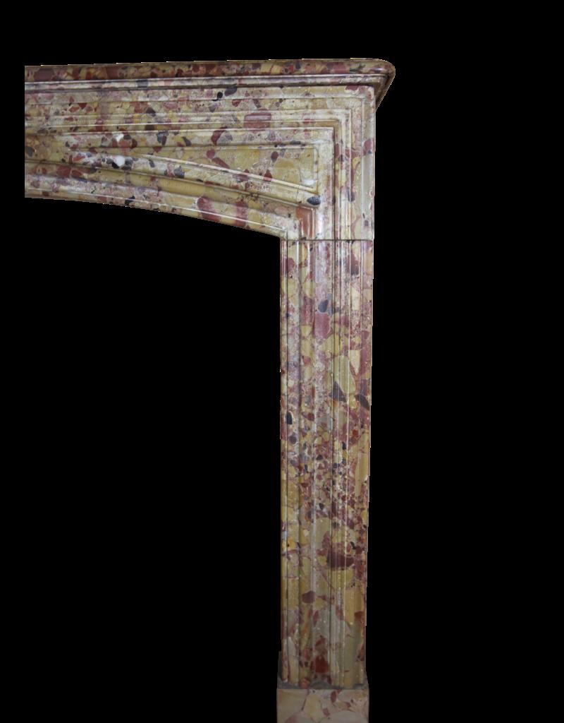 The Antique Fireplace Bank Louis XIV Zeitraum Brêche D'aleppe Marmor Kamin Verkleidung