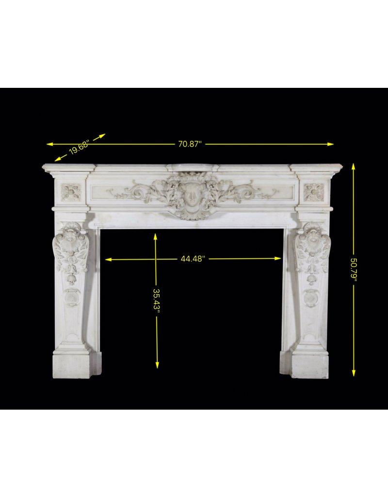 The Antique Fireplace Bank Paris Monumental Antike Kamin Maske In White Statuary Marmor