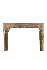 Extreme Strong Bicolor Hard Stone Antique Fireplace Surround