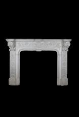 The Antique Fireplace Bank Empfindliche Italienischen Weinlese Statuarisch Weißer Marmor Kamin