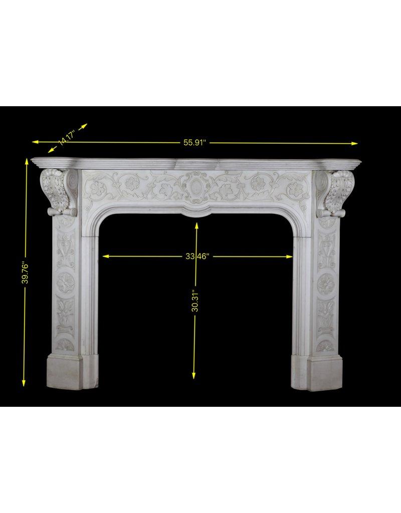 Maison Leon Van den Bogaert Antique Fireplaces & Vintage Architectural Elements Delicada Italiano Mármol Estatuario De La Vendimia Chimenea Blanca Pieza