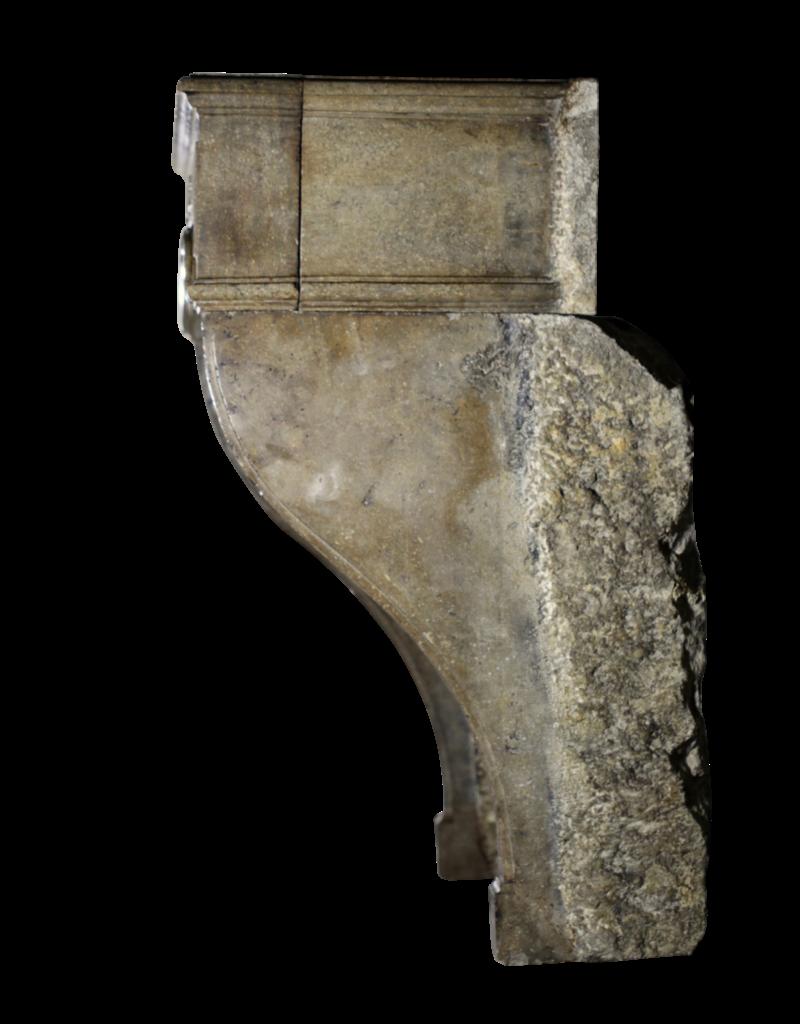 Ungewöhnliche 18. Jahrhundert Jahrgang Französisch Stein Kamin Maske
