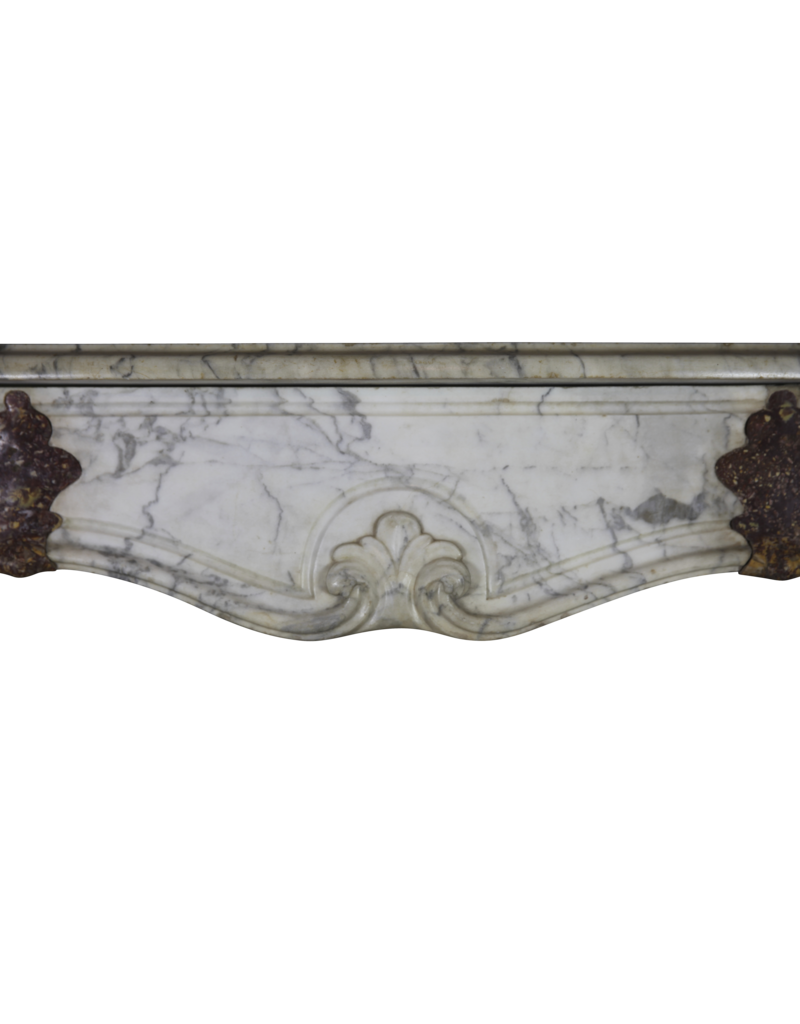 17Th Century Italian Fireplace Surround In Marble