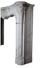 Castle Vintage Fireplace Surround In White Carrara Marble