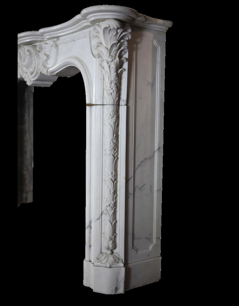 The Antique Fireplace Bank Schloss-Weinlese Kamin Maske In Weißen Carrara-Marmor