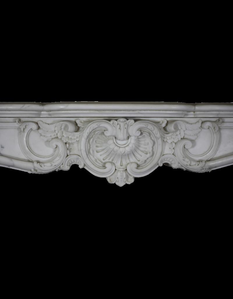 Maison Leon Van den Bogaert Antique Fireplaces & Vintage Architectural Elements Castillo Chimenea Vintage Envolvente En Mármol Blanco De Carrara