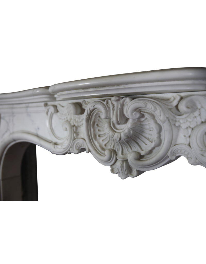 Castle Vintage Fireplace Surround In White Carrara Marble The Antique Fireplace Bank