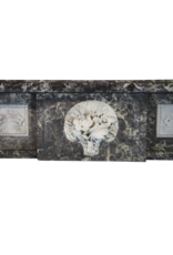 Siglo 18 Antiguo Fino Mármol Belga Chimenea