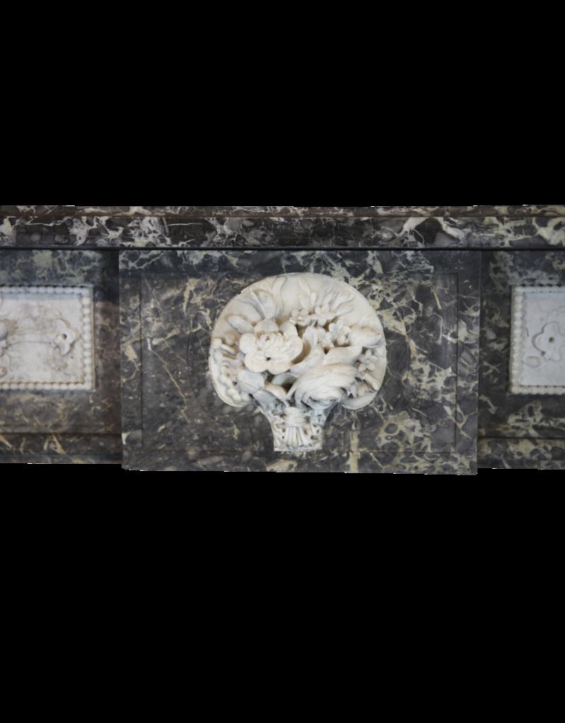18. Jahrhundert Feine Antike Belgische Marmor Kamin Maske