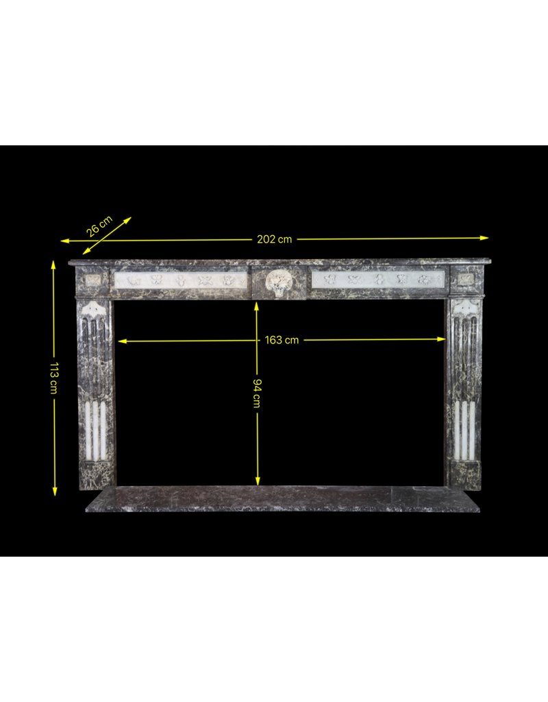 The Antique Fireplace Bank 18Th Century Fine Antique Belgian Marble Fireplace Surround