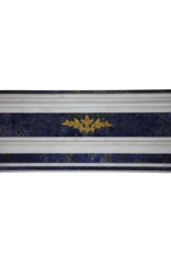 Parisian Monumental Antique Fireplace Surround In Marble