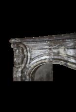 Belgischen 18. Jahrhundert Periode Klassischen Marmor Kamin Maske