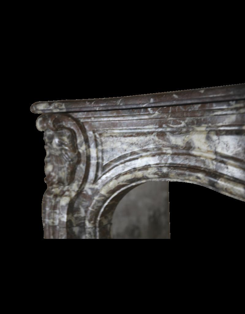 The Antique Fireplace Bank Belgischen 18. Jahrhundert Periode Klassischen Marmor Kamin Maske