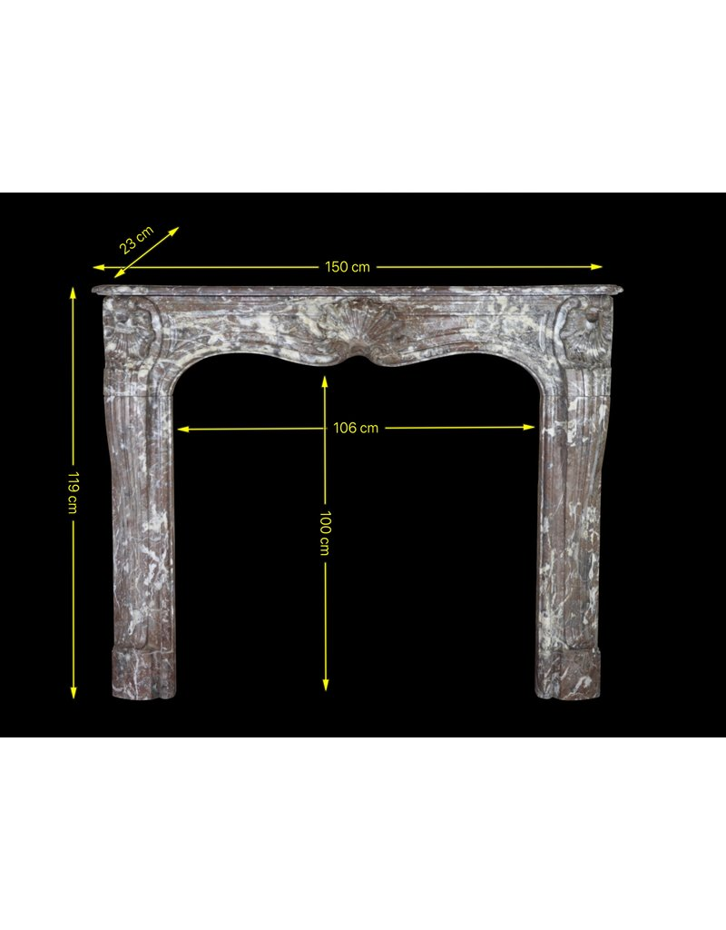 Belgian 18Th Century Period Classic Marble Fireplace Surround