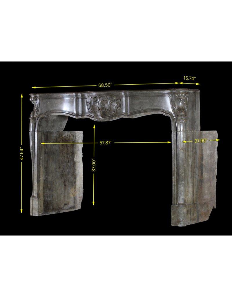 Groß 18. Jahrhundert Französisch Antik Kamin Maske