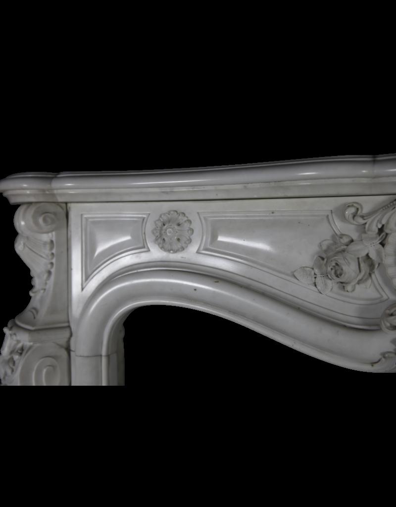 The Antique Fireplace Bank Pure White Statuary Marmor Französisch Jahrgang Kamin Maske
